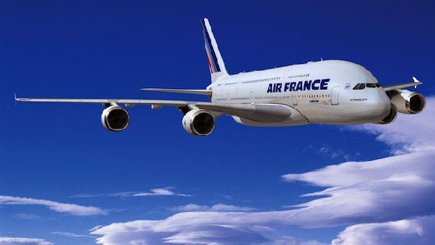 Перелёт Москва-Париж французской а/л AirFrance