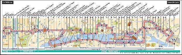 Карта автобусных остановок и маршрутов Парижа