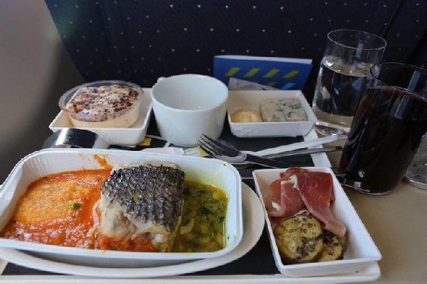 Питание на борту AirFrance «Париж – Москва» (бизнес-класс)