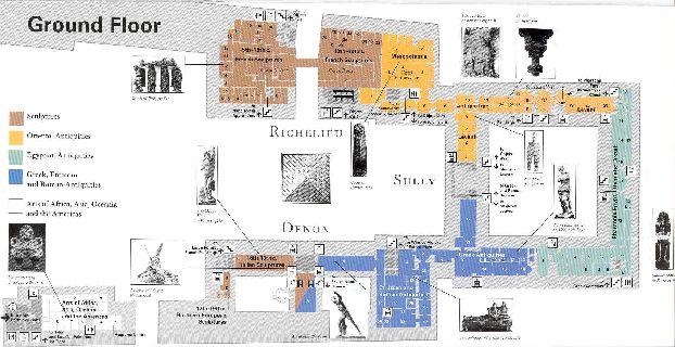 Иной вариант карты 1 этажа Лувра