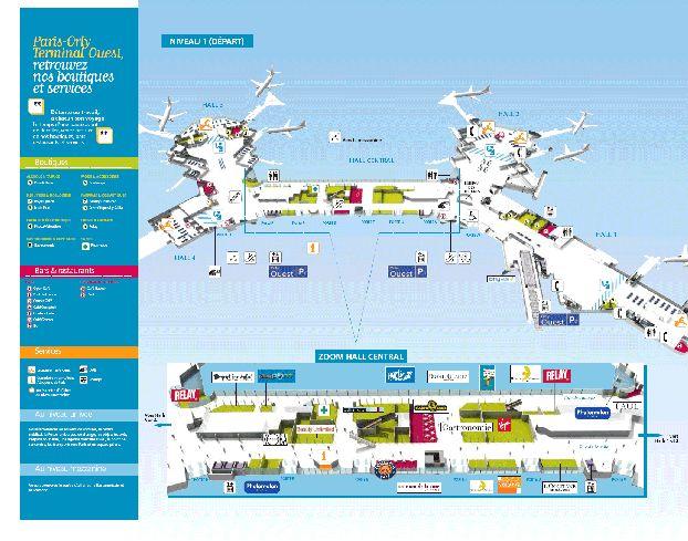 Западный терминал Орли, карта
