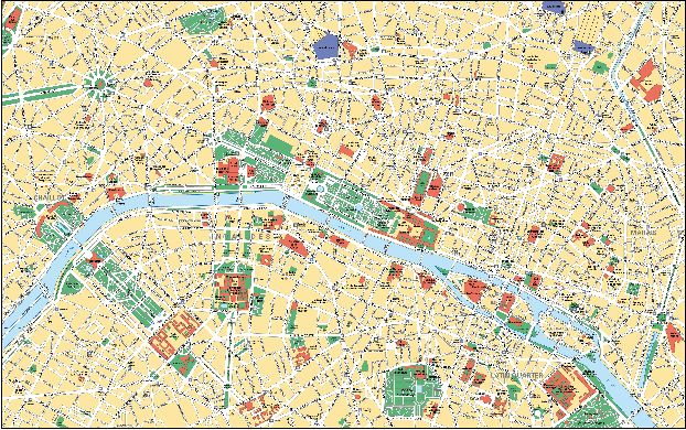 Подробная карта Парижа