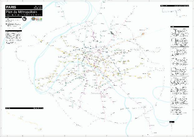 План парижского метро с расположением аэропортов