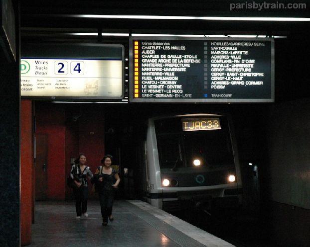 Станция красной ветки RER A