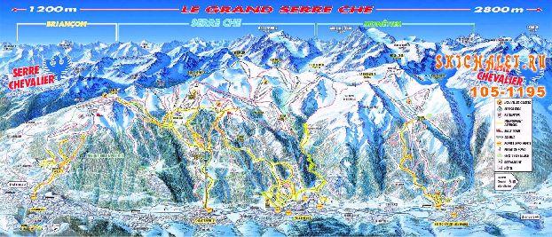Карта курорта Серр-Шевалье