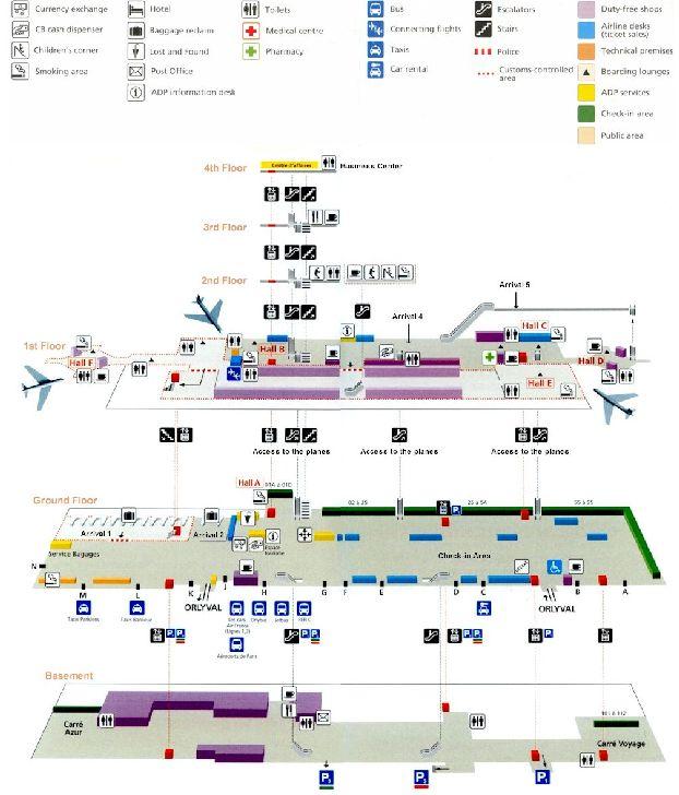 Схема 2 южного терминала Орли