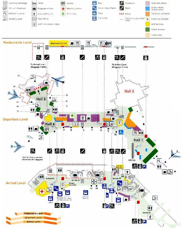 Схема 2 западного терминала Орли